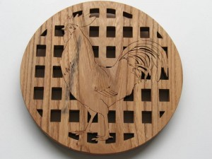 Trivet- cockerel design